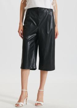 Черные шорты-бермуды Marchi Eco из экокожи, фото