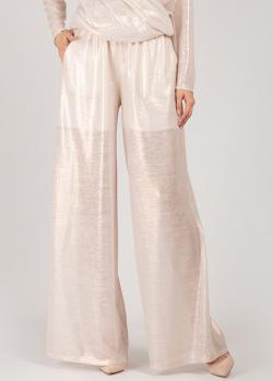 Широкие брюки Iva Nerolli с люрексом, фото