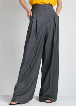 Серые брюки-палаццо Rochas с защипами, фото