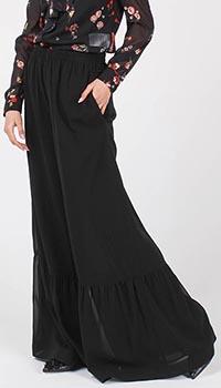 Юбка-брюки Red Valentino из шелка черного цвета, фото