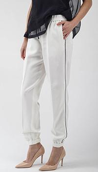 Белые брюки Peserico с черными лампасами, фото