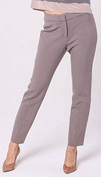 Зауженные брюки-скинни Peserico серого цвета, фото