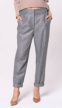 Серые брюки-скинни Peserico с карманами, фото
