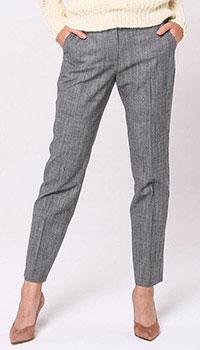 Брюки-скинни Peserico серого цвета, фото