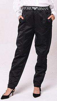 Зауженные брюки Emporio Armani черного цвета, фото
