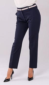 Синие зауженные брюки Peserico со стрелками, фото