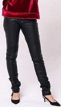 Черные леггинсы Philipp Plein с низкой талией, фото
