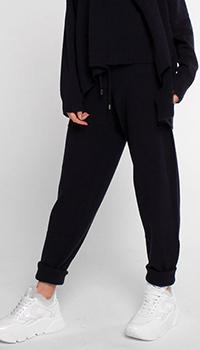 Синие кашемировые брюки Twin-Set на резинке, фото