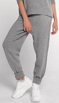 Кашемировые брюки Twin-Set серого цвета, фото