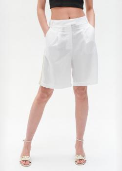 Белые шорты Twin-Set с лампасами, фото
