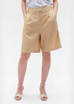 Бежевые шорты-бермуды Twin-Set с лампасами, фото