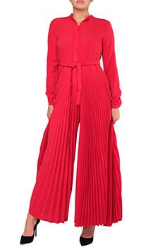 Красный комбинезон Twin-Set с расклешенными штанинами, фото