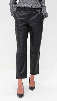 Прямые брюки Twin-Set из искусственой кожи, фото