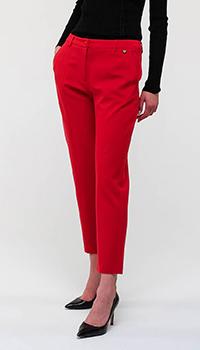 Красные брюки Twin-Set со стрелками, фото