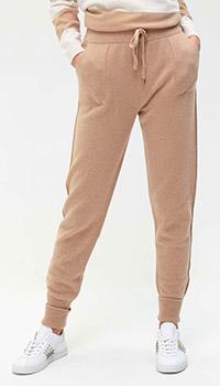Кашемировые брюки Twin-Set бежевого цвета, фото