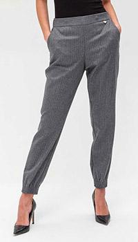 Серые брюки Twin-Set с резинками внизу, фото