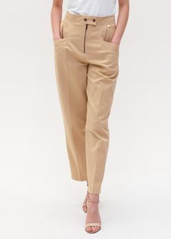 Бежевые брюки Twin-Set с объемными карманами, фото