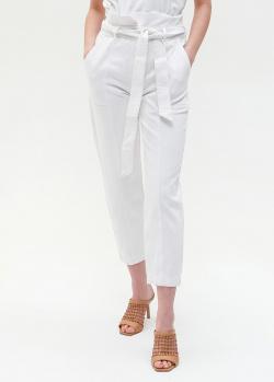 Белые брюки Twin-Set с поясом, фото