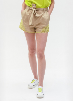 Бежевые шорты Twin-Set с кружевом, фото