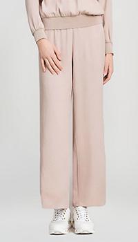 Широкие брюки Twin-Set бежевого цвета, фото