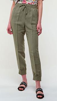 Зеленые брюки Twin-Set на резинке, фото