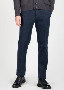 Синие брюки Kiton со стрелками, фото