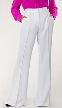 Широкие брюки Alberta Ferretti белого цвета, фото