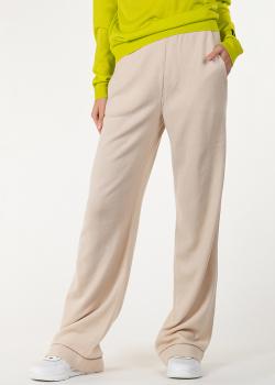 Трикотажные брюки Alberta Ferretti в бежевом цвете, фото