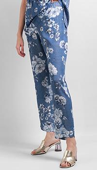 Широкие брюки VDP с цветочным принтом, фото
