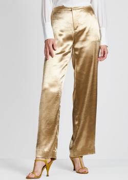 Широкие брюки Vince золотистого цвета, фото