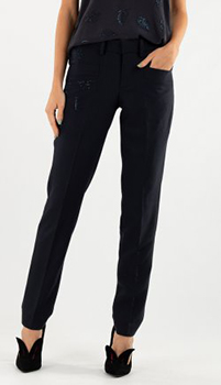 Прямые брюки Zadig & Voltaire черного цвета, фото