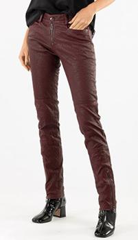 Кожаные брюки Zadig & Voltaire с эффектом помятости, фото