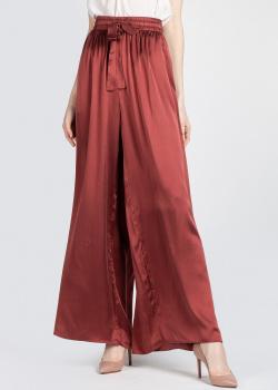 Шелковые брюки Zimmermann бордового цвета, фото