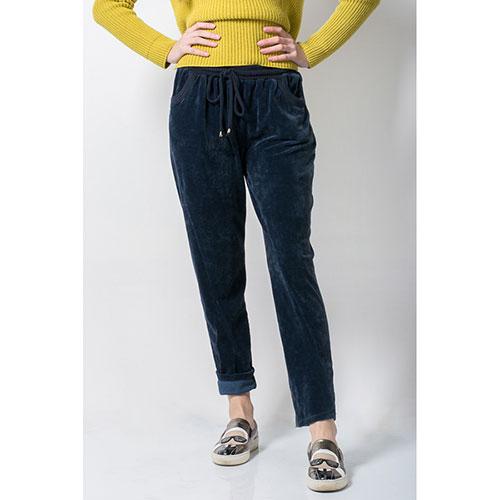 Велюровые брюки Tensione in синие, фото