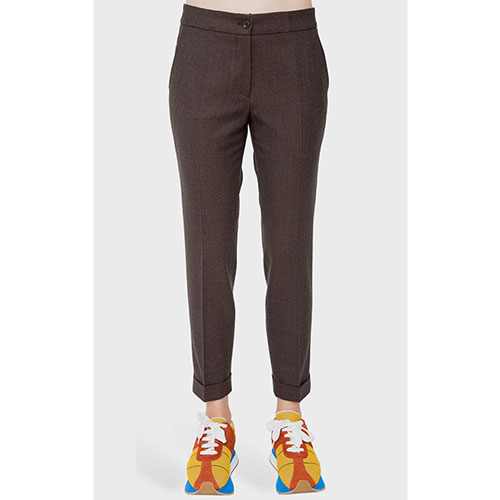 Коричневые брюки Etro со стрелками, фото