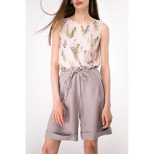 Льняные шорты Shako с высокой талией на кулиске, фото