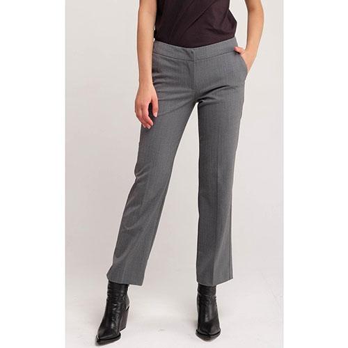 Классические серые брюки Twin-Set укороченные, фото