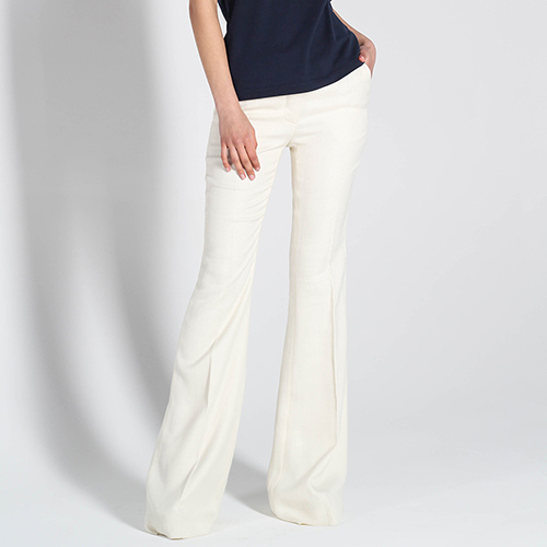 Светлые брюки-клеш Stella McCartney с заниженной талией, фото