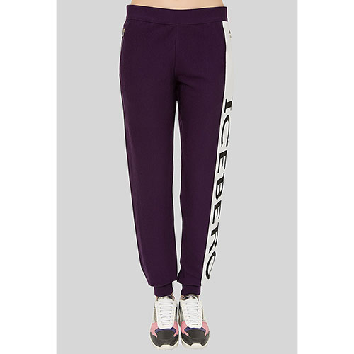 Фиолетовые брюки Iceberg с принтом, фото