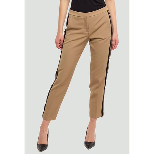Укороченные брюки Ermanno Ermanno Scervino кофейного цвета, фото