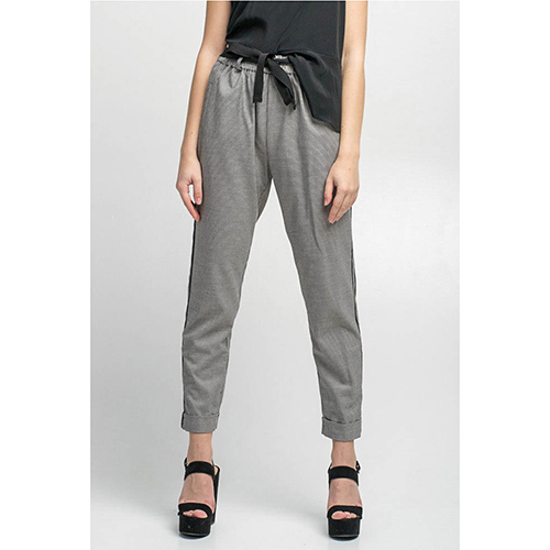 Серые зауженные брюки Kaos с лампасами, фото