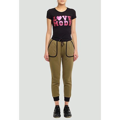 Брюки цвета хаки Love Moschino с накладными карманами, фото