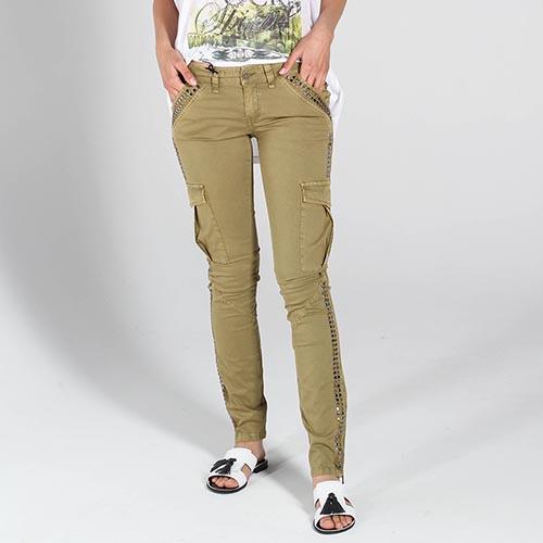 Зауженные брюки Richmond цвета хаки с накладными карманами, фото
