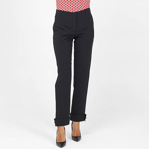 Черные брюки Emporio Armani с подворотами, фото
