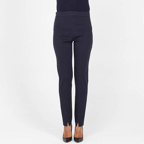 Узкие брюки Bogner синего цвета с разрезами впереди, фото