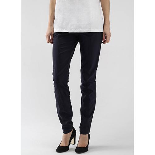 Синие узкие брюки Bogner с отделочной строчкой, фото