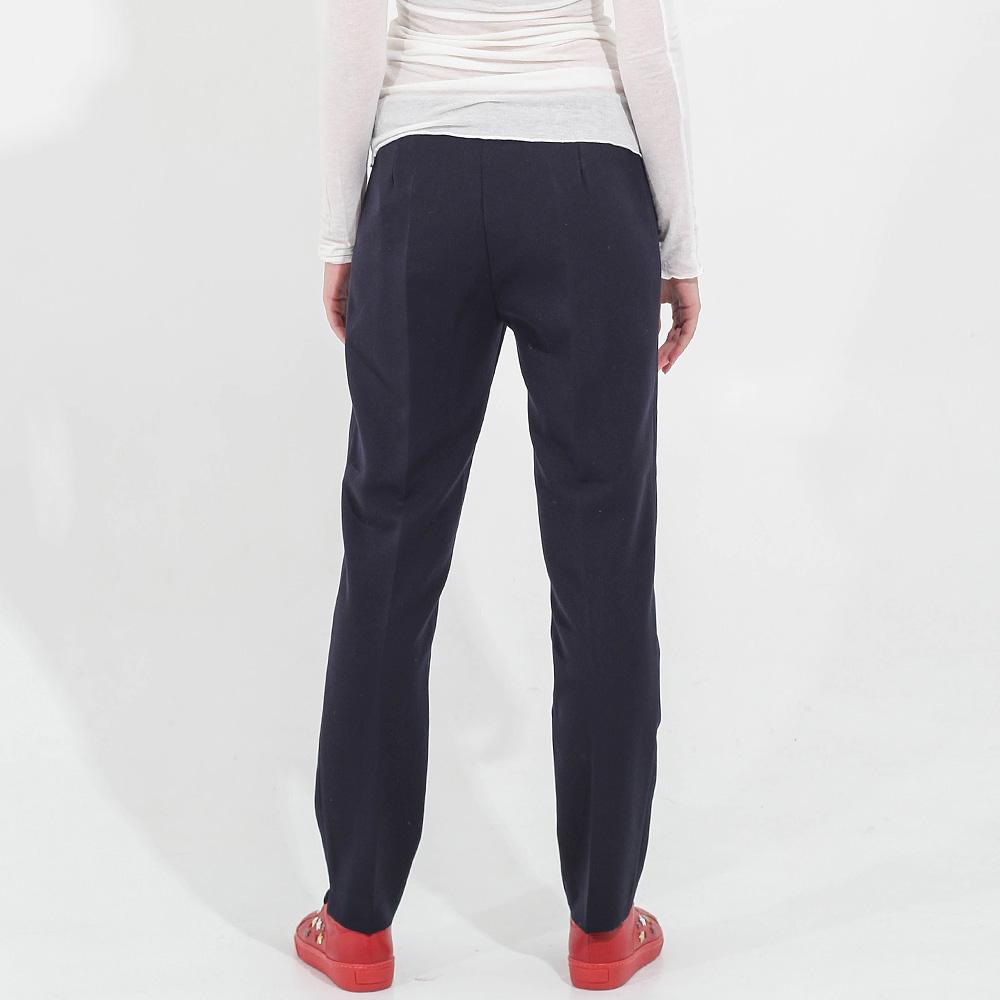 Зауженные брюки Sandro Ferrone синего цвета со стрелками