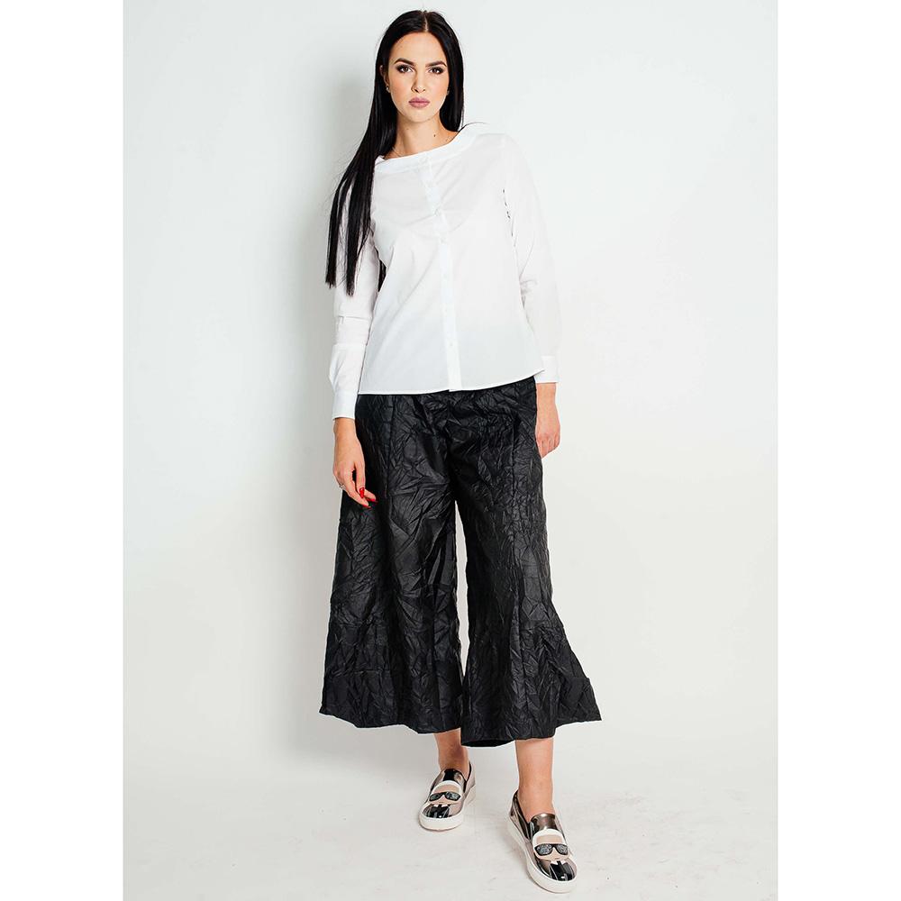 Черные широкие брюки F&emme с эффектом помятости