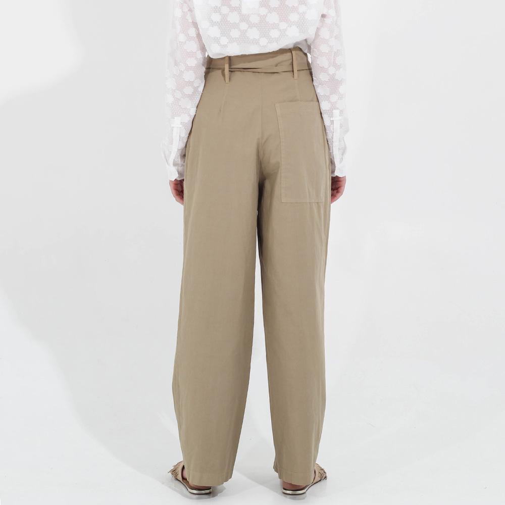 Широкие брюки Peacock Blue с высокой талией