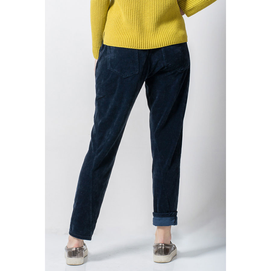Велюровые брюки Tensione in синие